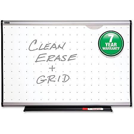 "Quartet® Prestige® Total Erase® Dry-Erase Board, 36""H x 48""W, White Board, Silver Frame"