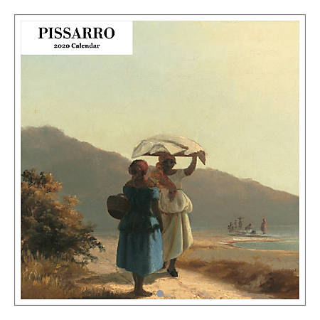 "Retrospect Camille Pissarro Square Calendar 19"" x 24"", Black, January To December 2020"