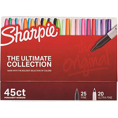 Sanford Sharpie Ultimate Coll. Permanent Markers - Ultra Fine, Fine Marker Point - 44 / Box