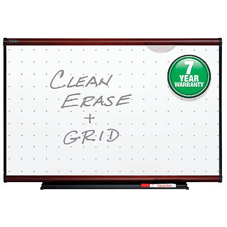 "Quartet® Prestige® Total Erase® Dry-Erase Board, 52 1/2""H x 76 5/8""W, White Board, Mahogany Frame"