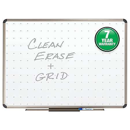 "Quartet® Prestige™ Euro Total Erase® Board, Titanium Frame, 24"" x 36"""