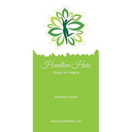 Custom Vertical Display Banner, Green Spa
