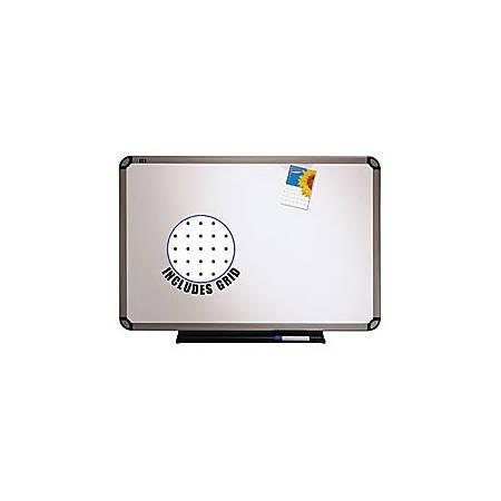 "Quartet® Prestige™ Euro Total Erase® Board, Titanium Frame, 36"" x 48"""