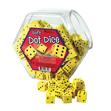 Learning Resources® Hands-On Soft Dot Dice, Pack Of 200