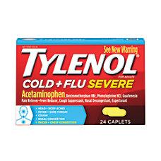 Tylenol Cold Flu Severe Caplets Box