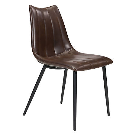 Zuo Modern Norwich Dining Chairs, Brown/Black, Set Of 2