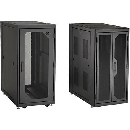 Black Box Elite EC24U3032TPMSMNK Rack Cabinet - For Server, PDU - 24U Rack Height - TAA Compliant