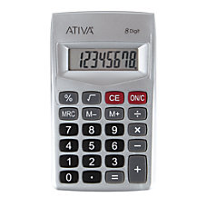 Ativa 8 Digit Handheld Calculator 405