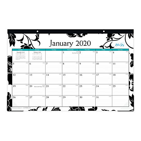"Blue Sky™ Monthly Desk Pad, 17"" x 11"", Barcelona, January To December 2020, 100020"