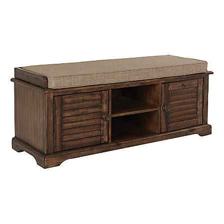 Ave Six Canton Storage Bench, Caramel