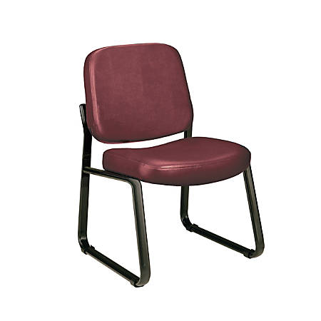 OFM Anti-Microbial Anti-Bacterial Reception Chair, Wine/Black
