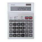 "Ativa® KC-423 12-Digit Desktop Calculator, 7.52""H x 5.52""W x 1.8""D, 2Silver"