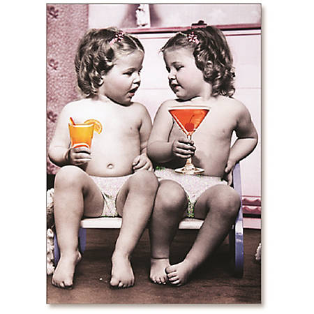 "Viabella Friendship Greeting Card With Envelope, Baby Drinks, 5"" x 7"""