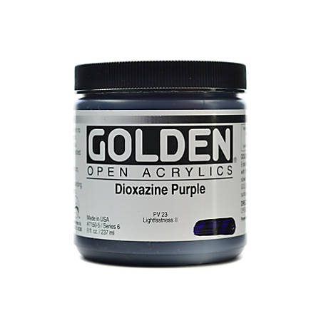 Golden OPEN Acrylic Paint, 8 Oz Jar, Dioxazine Purple