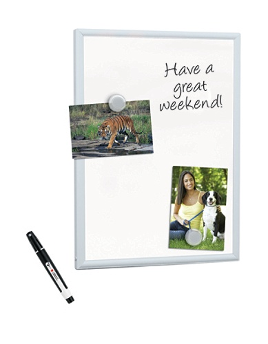FORAY Mini Magnetic Dry Erase Board With Aluminum Frame 11 x 14 ...
