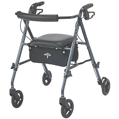 "Guardian Ultralight Rollator, 6"" Wheels, Smoky Blue"