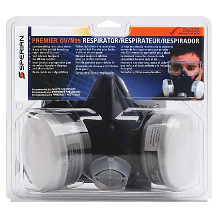 Honeywell Premier OV/N95 Half Mask Respirator - Comfortable, Latex-free - Medium Size - Gray - 1 Each