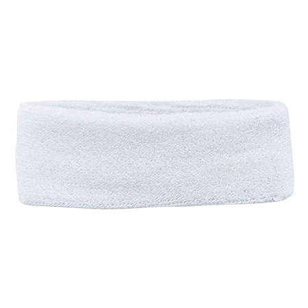 Ergodyne Chill-Its 6550 Head Sweatbands, White, Pack Of 24 Headbands