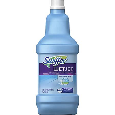 Swiffer WetJet Floor Cleaner - Liquid - 0.33 gal (42.20 fl oz) - Open-Window Fresh Scent - 1 Bottle - Clear