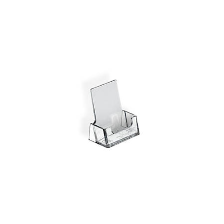 """Azar Displays Vertical Acrylic Business/Gift Card Holders, 3""""H x 7""""W x 5""""D, Clear, Pack Of 10"""