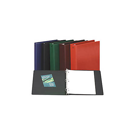 """Avery® Economy Binders With Round Rings, 8 1/2"""" x 11"""", 3"""" Rings, 44% Recycled, Black"""