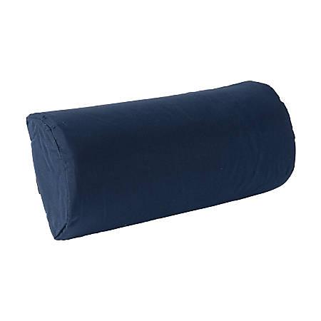 "DMI® Half-Size Lumbar Roll Back Support Cushion Pillow, 10 3/4"" x 2 3/8"", Navy"