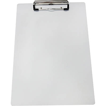"Saunders Aluminum Clipboard - 8 1/2"" x 11"" - Low-profile - Aluminum - White - 1 Each"