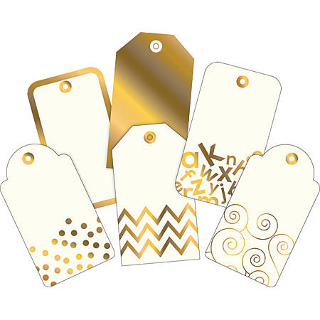 Barker Creek Accents, 24K Gold With Gold Foil, Pack Of 72
