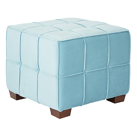 Ave Six Sheldon Tufted Ottoman, Ocean/Coffee