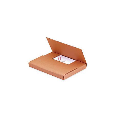 "Office Depot® Brand Multi-Depth Easy-Fold Mailers, 9 5/8"" x 6 5/8"" x 1 1/4"", Kraft, Pack Of 50"