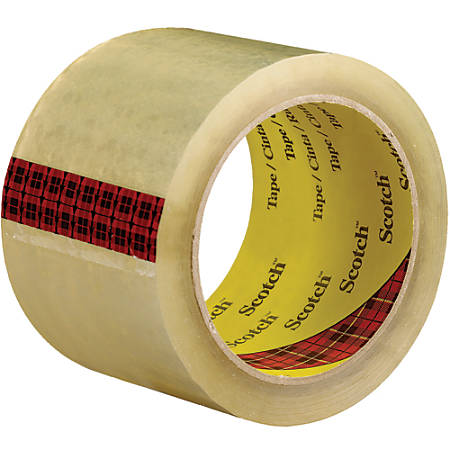 "3M™ 3743 Carton Sealing Tape, 3"" Core, 3"" x 55 Yd., Clear, Case Of 6"