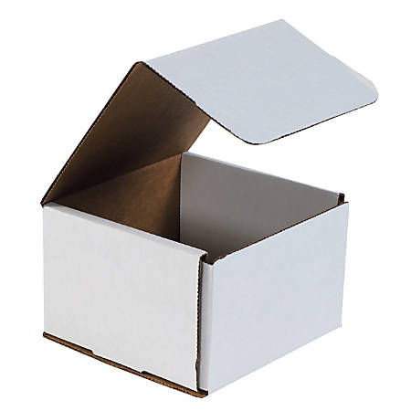"""Office Depot® Brand White Corrugated Mailers, 6"""" x 6"""" x 4"""", Pack Of 50"""