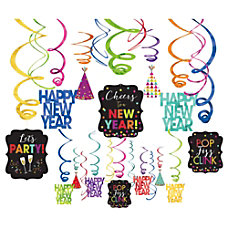 Amscan New Years Foil Swirl Decorations