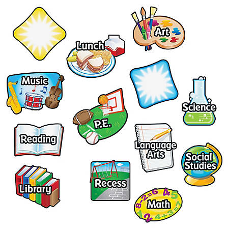 "Learning Resources® Magnetic Subject Labels, 6"" x 4"", Multicolor, Pre-K - Grade 12, Pack Of 13"