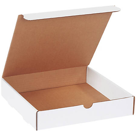 """Office Depot® Brand White Literature Mailers, 10"""" x 10"""" x 2"""", Pack Of 50"""