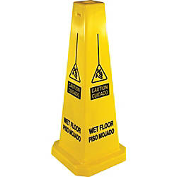Genuine Joe Bright Four sided Caution