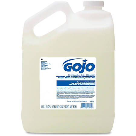 Gojo® White Lotion Skin Cleanser - Coconut Scent - 1 gal (3.8 L) - Hand - White - 1 Each