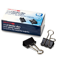 OIC Binder Clips Small 34 Black
