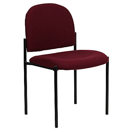 Flash Furniture Comfortable Stackable Side Chair, Burgundy/Black