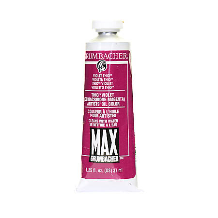Grumbacher Max Water Miscible Oil Colors, 1.25 Oz, Thio Violet, Pack Of 2