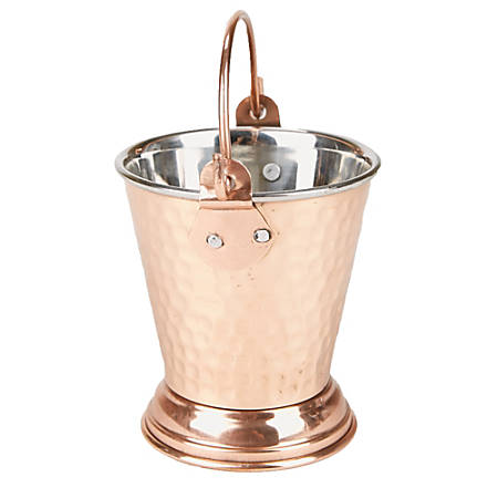 "Mind Reader Insulated Stainless-Steel Ice Bucket, 6 3/4""H x 3 3/4""W x 3 3/4""D, Copper Brown"