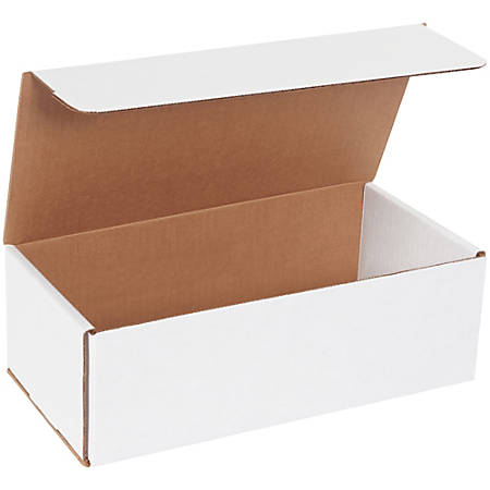 """Office Depot® Brand White Corrugated Mailers, 12"""" x 6"""" x 4"""", Pack Of 50"""