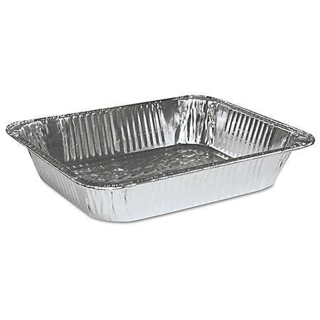 Boardwalk® Half-Size Steam Table Aluminum Pans, 128 Oz, Silver, Pack Of 100 Pans