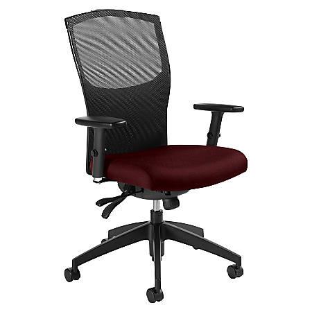 Global® Alero Mid-Back Tilter Chair, Red Rose/Black