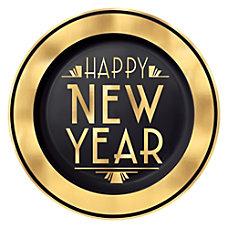 Amscan New Years Premium Plastic Plates