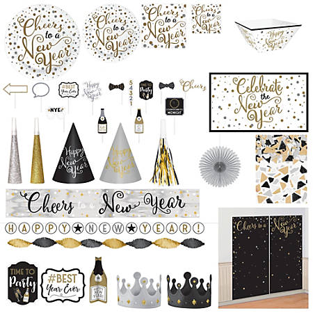 Amscan New Year's Insta-Party Kit, Multicolor