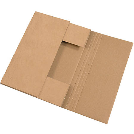 "Office Depot® Brand Multi-Depth Easy-Fold Mailers, 15"" x 11 1/8"" x 2"", Kraft, Pack Of 50"