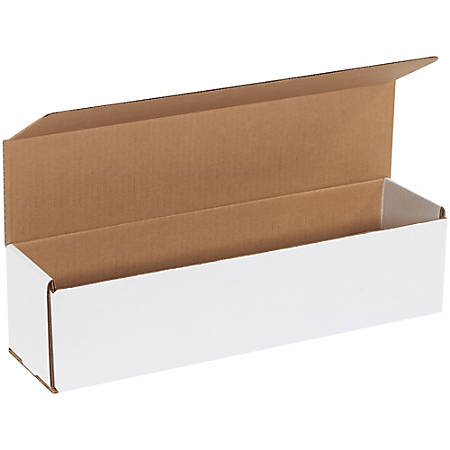 """Office Depot® Brand White Corrugated Mailers, 16""""x 4"""" x 4"""",, Pack Of 50"""