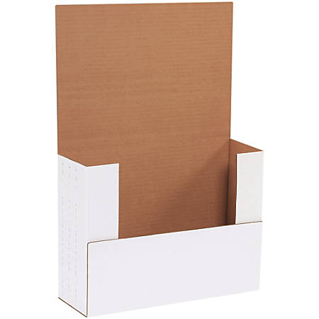"""Office Depot® Brand Easy-Fold Mailers, 12 1/8""""L x 9 1/8""""W x 4""""H, White, Pack Of 50"""