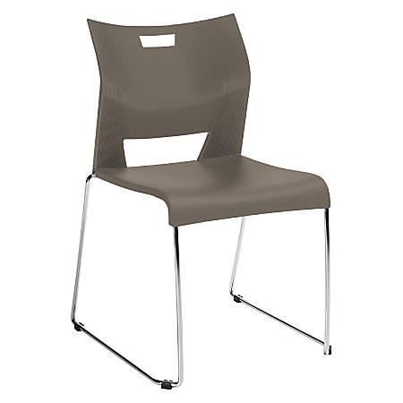 "Global® Duet™ Stacking Chair, 33 1/4""H x 20 1/2""W x 23""D, Latte Beige/Chrome"